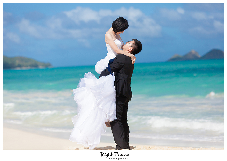 Beach Wedding Ceremony Oahu: Jinyan By RIGHT FRAME PHOTOGRAPHY