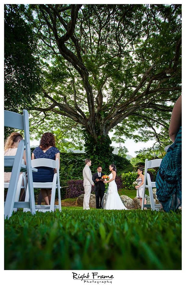 Wedding in Kualoa Ranch - Moli\'i Gardens | Right Frame