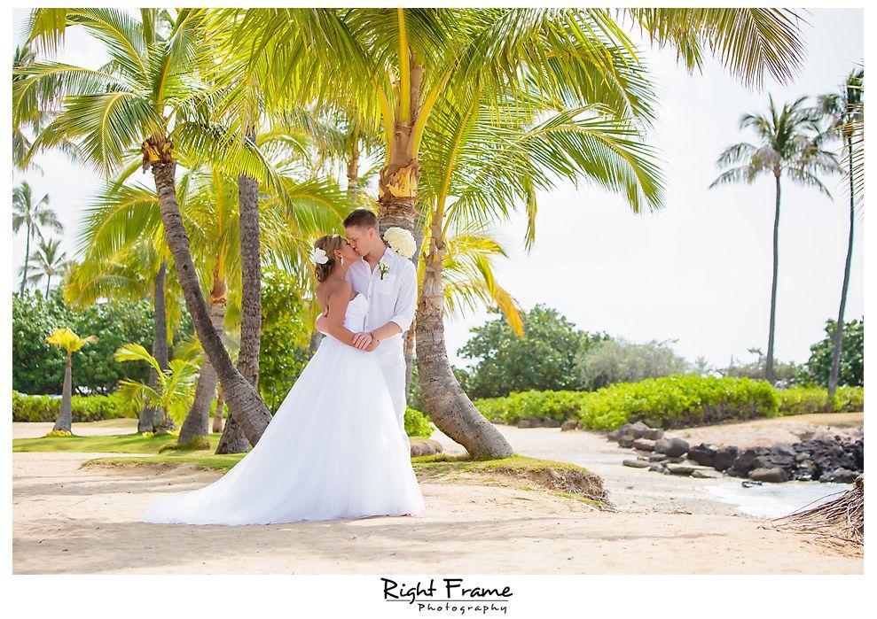 Beach Wedding Ceremony Oahu: Oahu Photographer By RIGHT FRAME