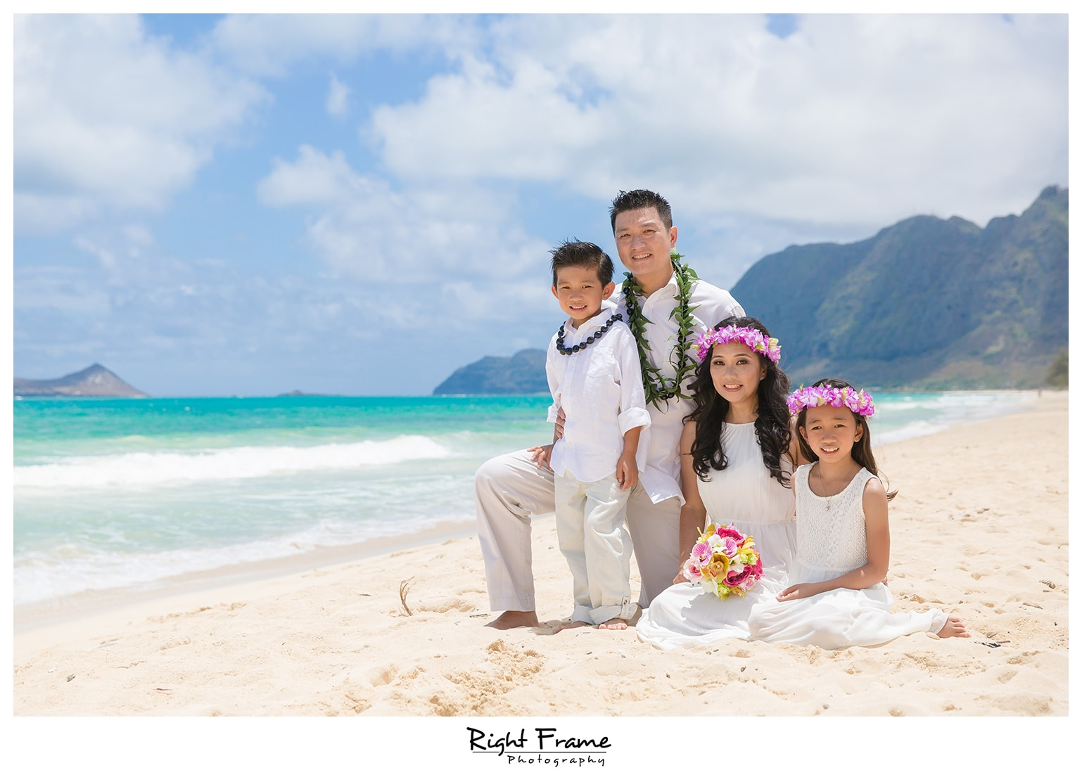 Beach Wedding Ceremony Oahu: Wedding Vow Renewal In Oahu Hawaii By RIGHT FRAME PHOTOGRAPHY
