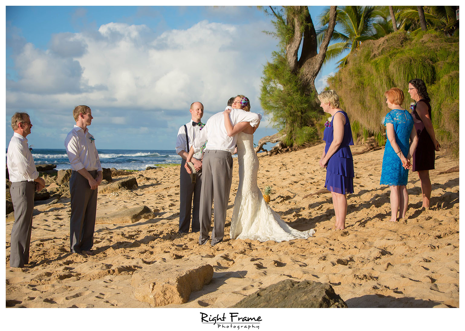 Papailoa Beach Wedding On North Shore Oahu By Right Frame