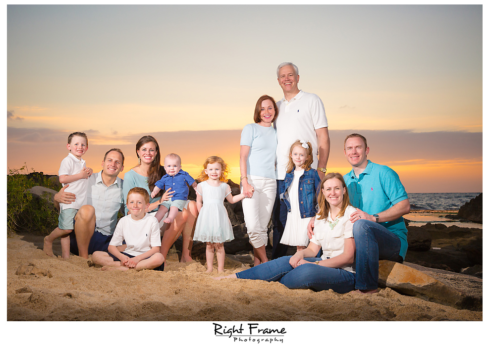 Ko'Olina Beach Family Sunset Photography Oahu Hawaii