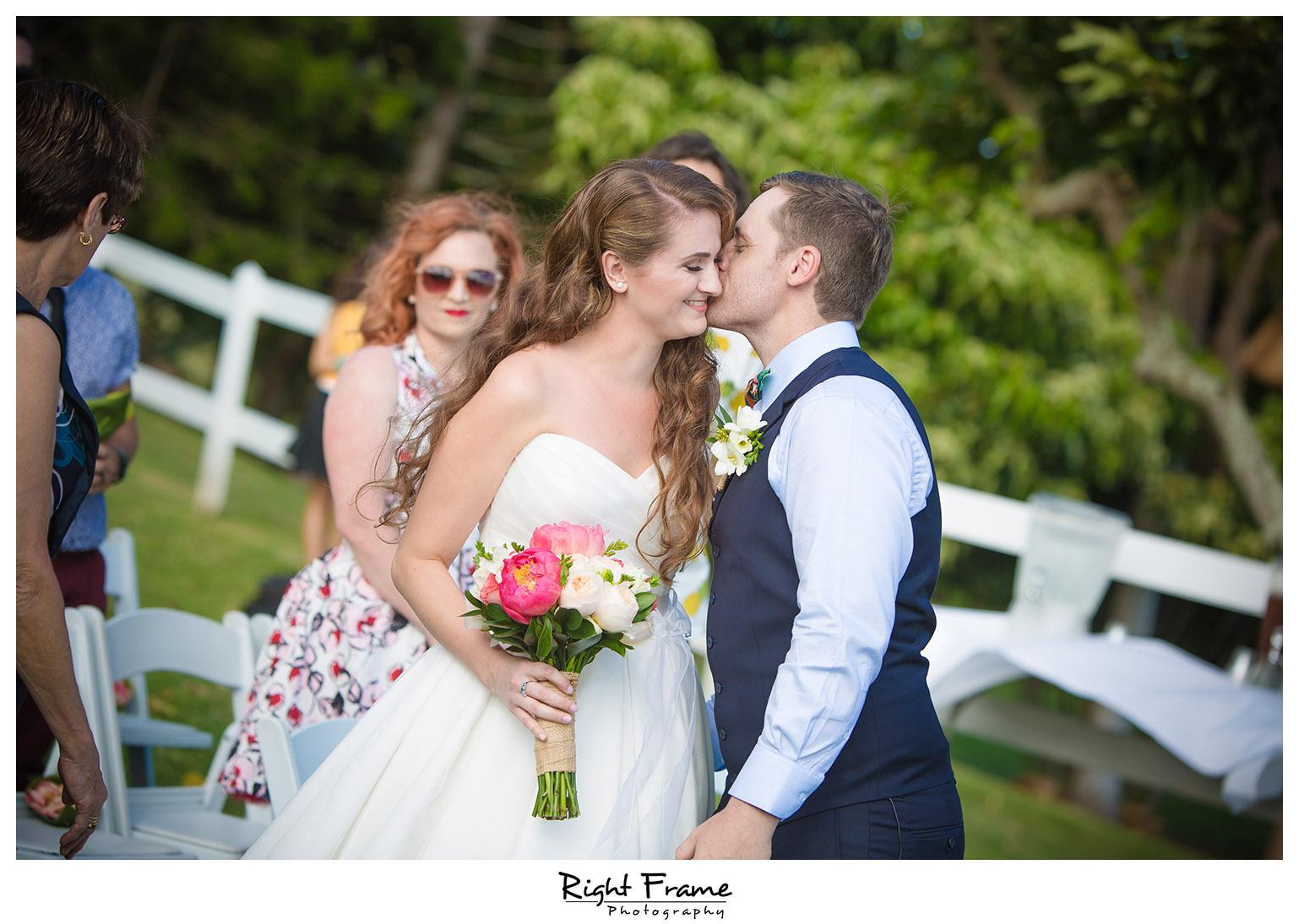Oahu Hawaii Kualoa Ranch Wedding Paliku Gardens