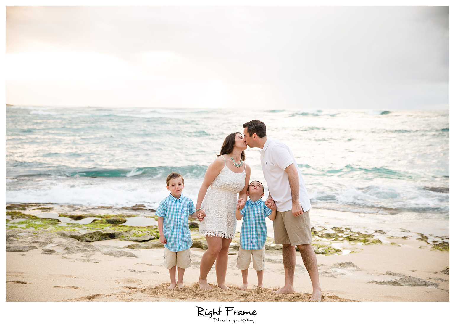 Sunset Family Portrait Turtle Bay Stables Beach