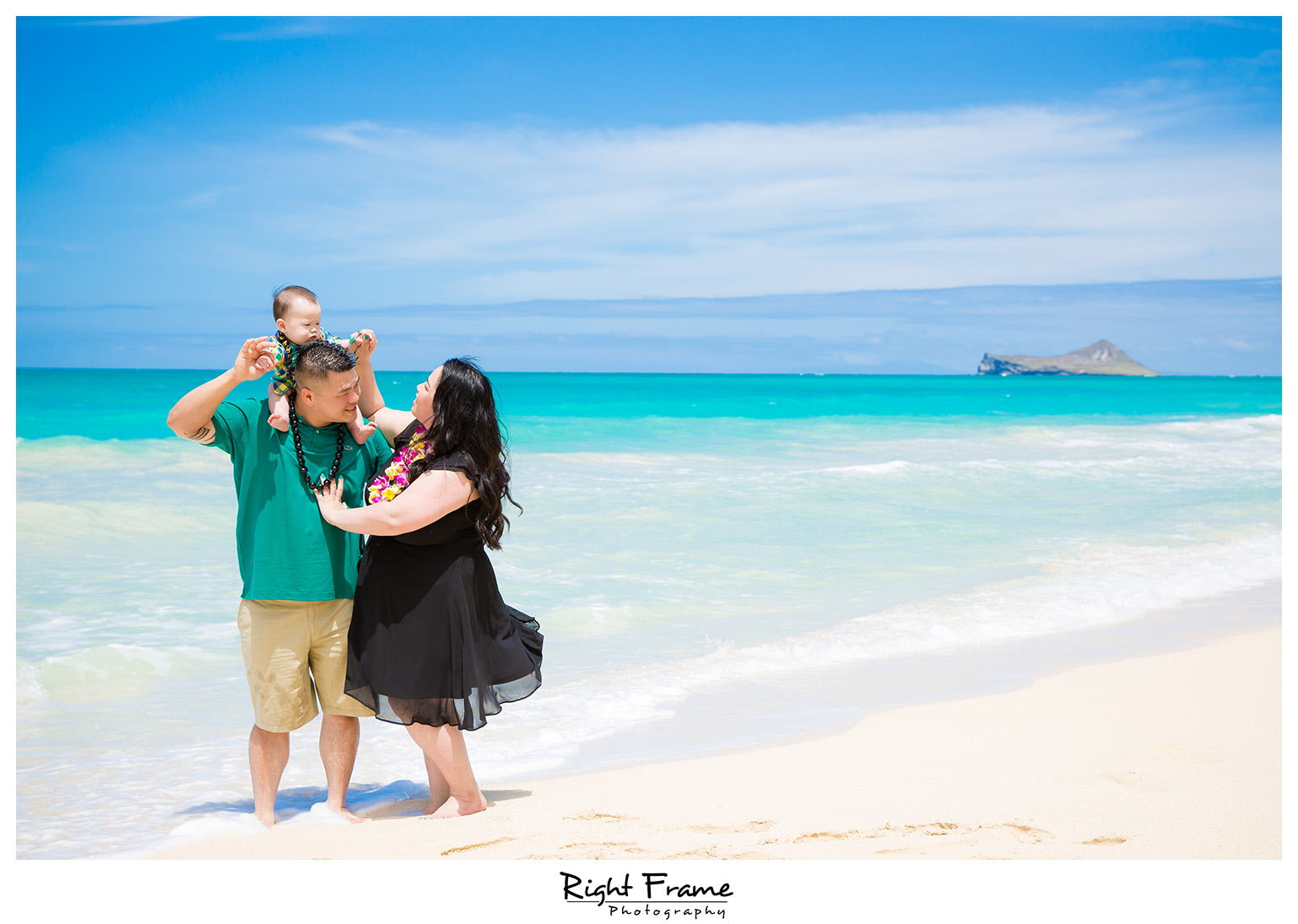 First Birthday Photography at Beach Oahu Hawaii