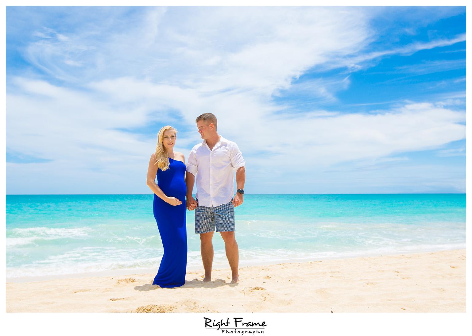 Maternity Photography Hawaii Bellows Beach
