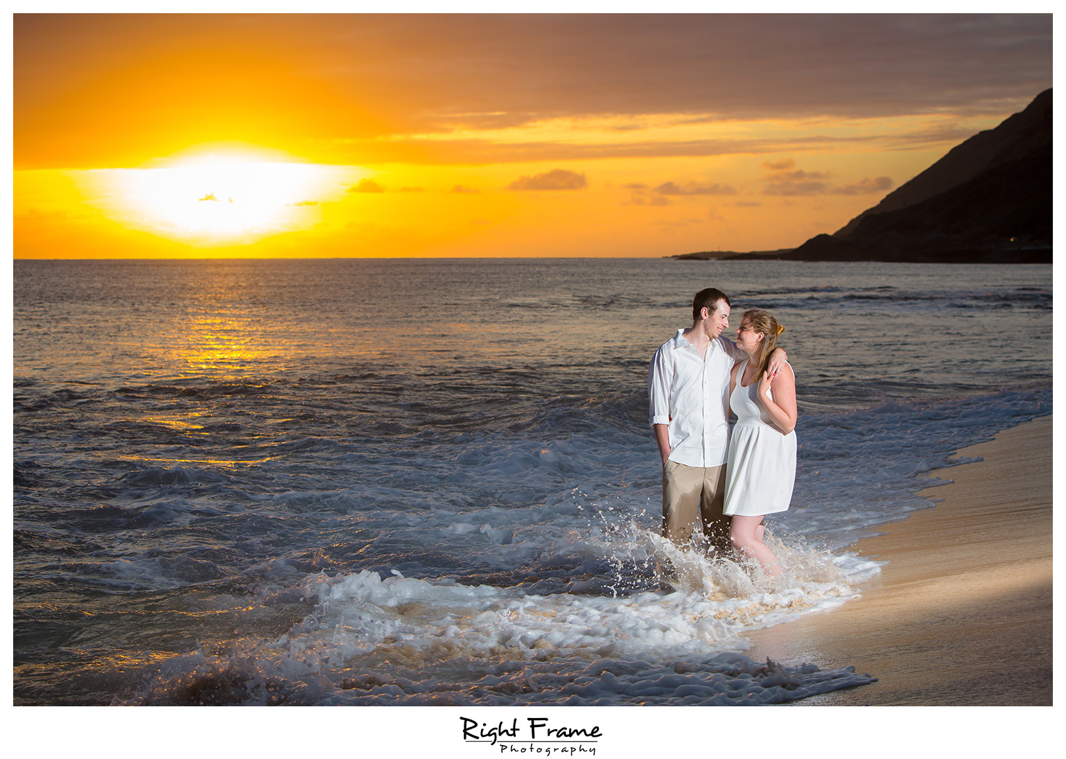 Hawaii Surprise Sunset Proposal She Said Yes