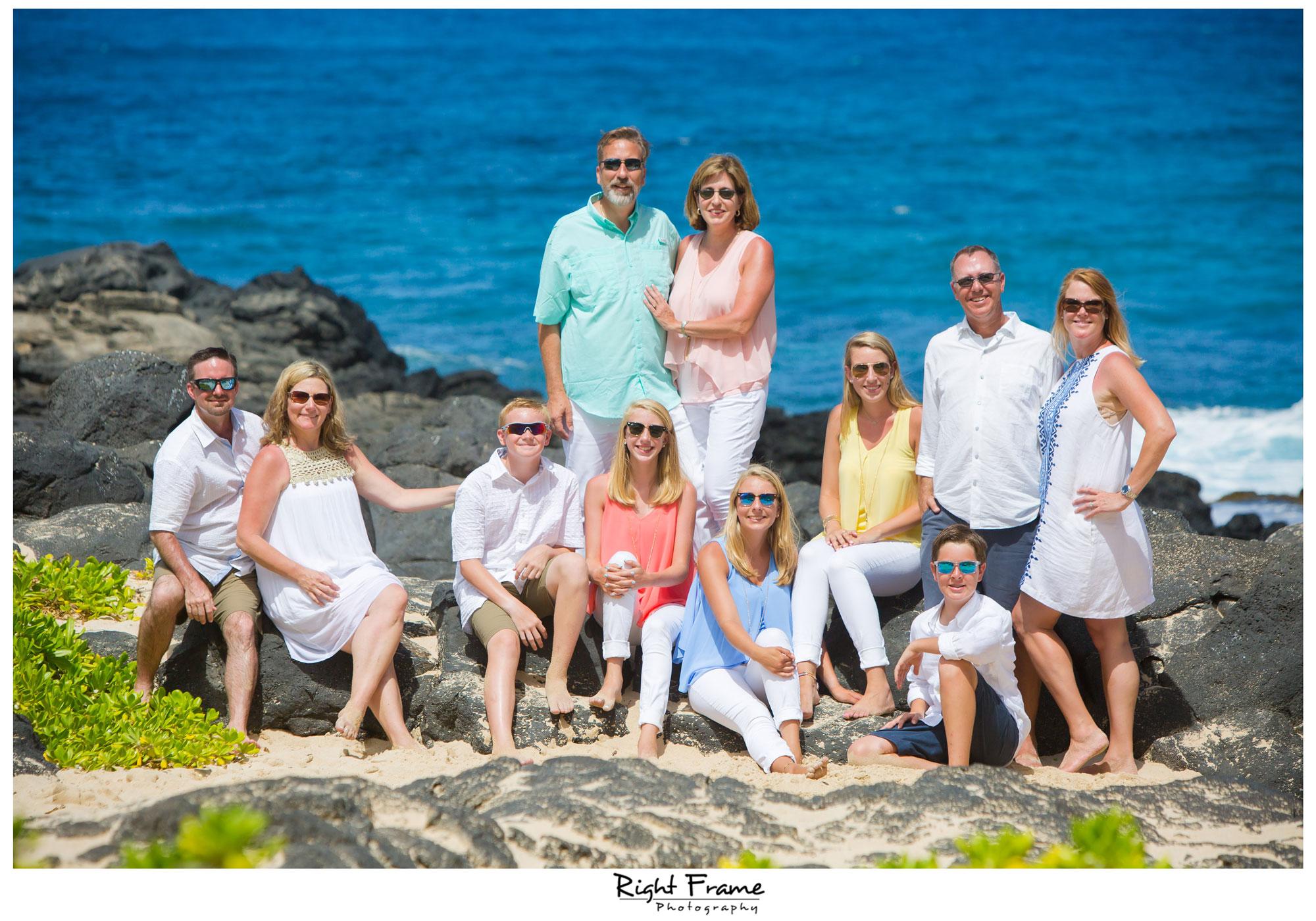 Family Beach Wedding Pics