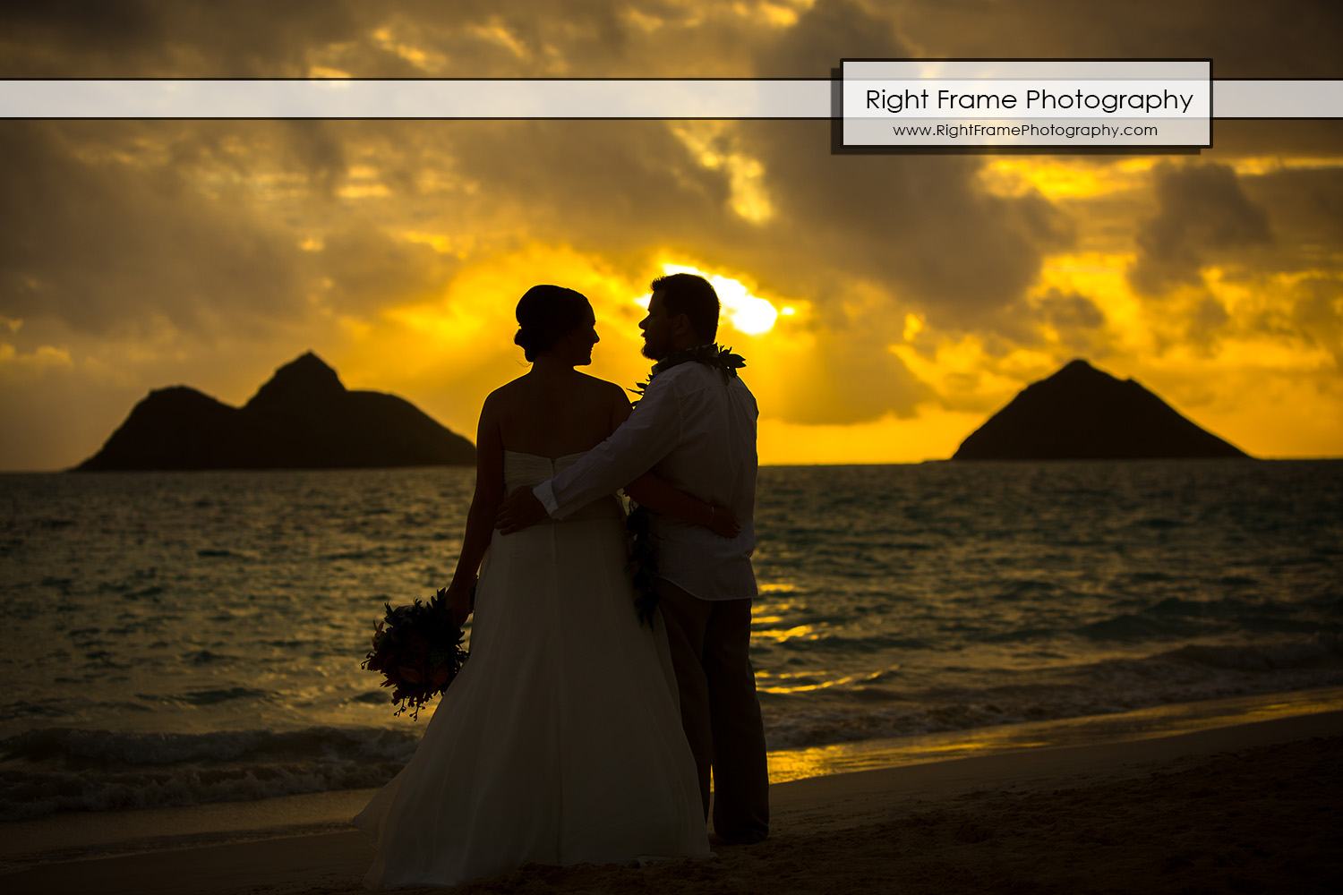 Sunrise Wedding at Lanikai Beach Oahu Hawaii