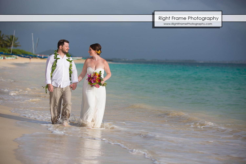 Sunrise Wedding at Lanikai Beach Oahu Hawaii