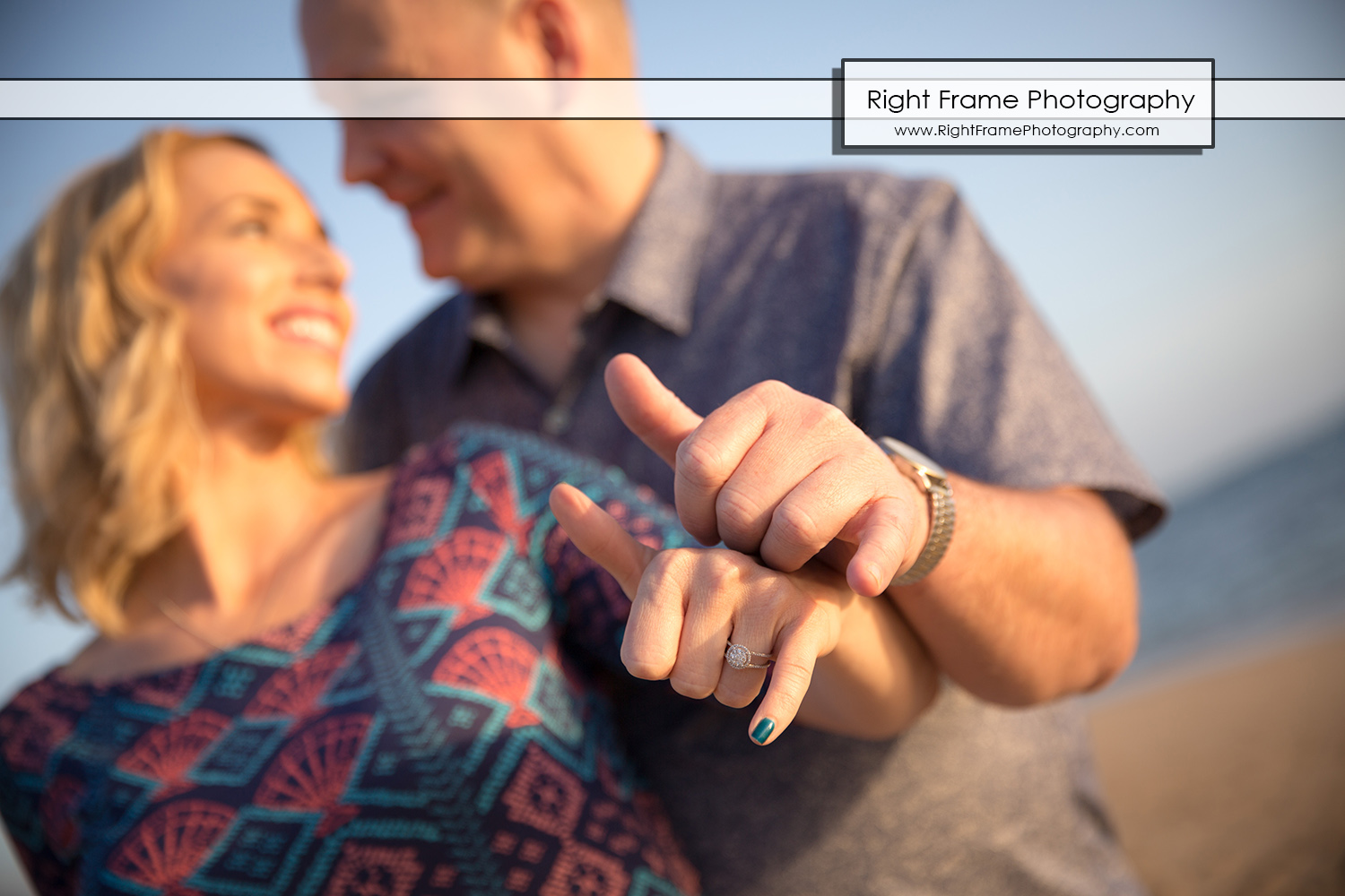 Sunset Engagement Pictures on Waikiki Beach