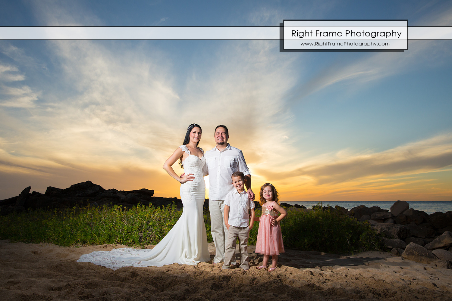 Beach Wedding Ceremony Oahu: FAMILY PHOTOGRAPHER Four Seasons Resort Oahu By RIGHT