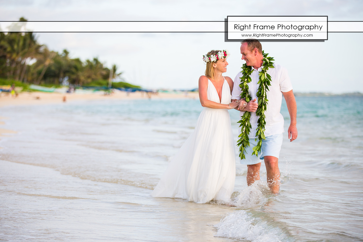Sunrise Vow Renewal in LANIKAI BEACH OAHU HI