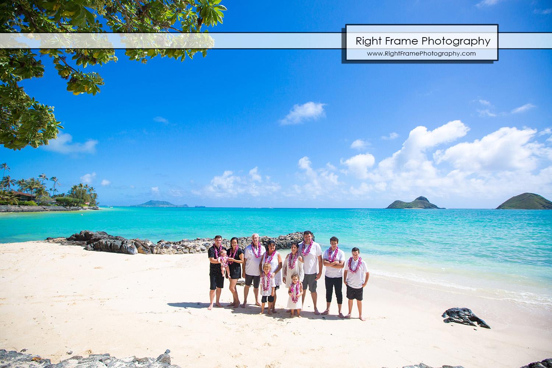 Family Portrait Session at Lanikai Beach Oahu
