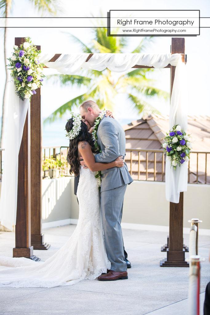 Wedding at the Halekulani Hotel Hau Terrace