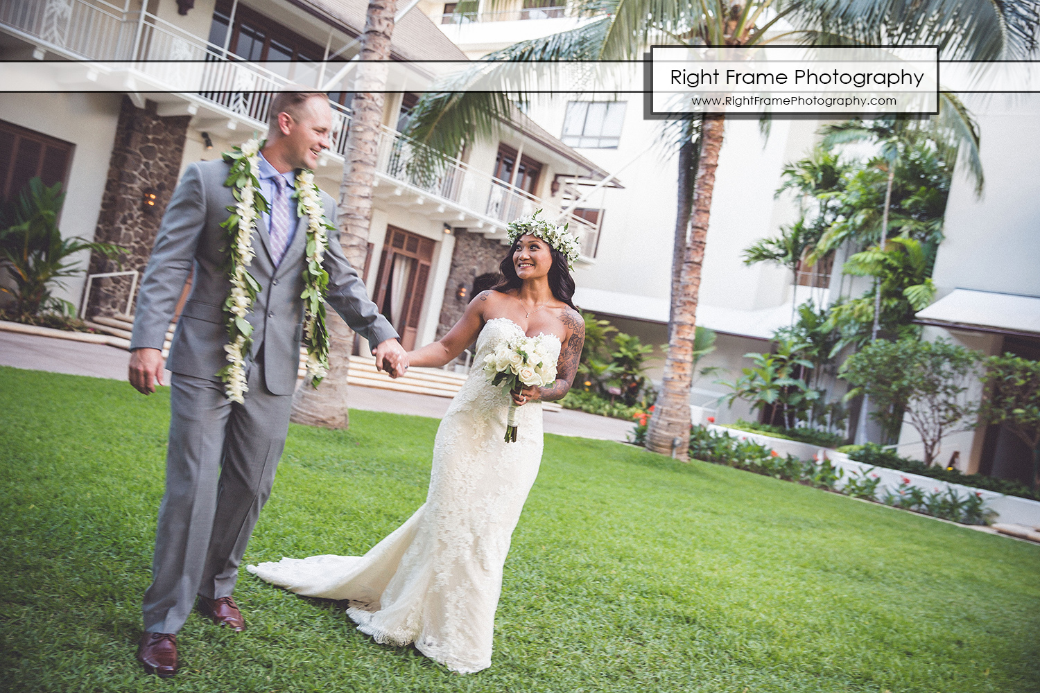 Wedding at the Halekulani Hotel Hau Terrace