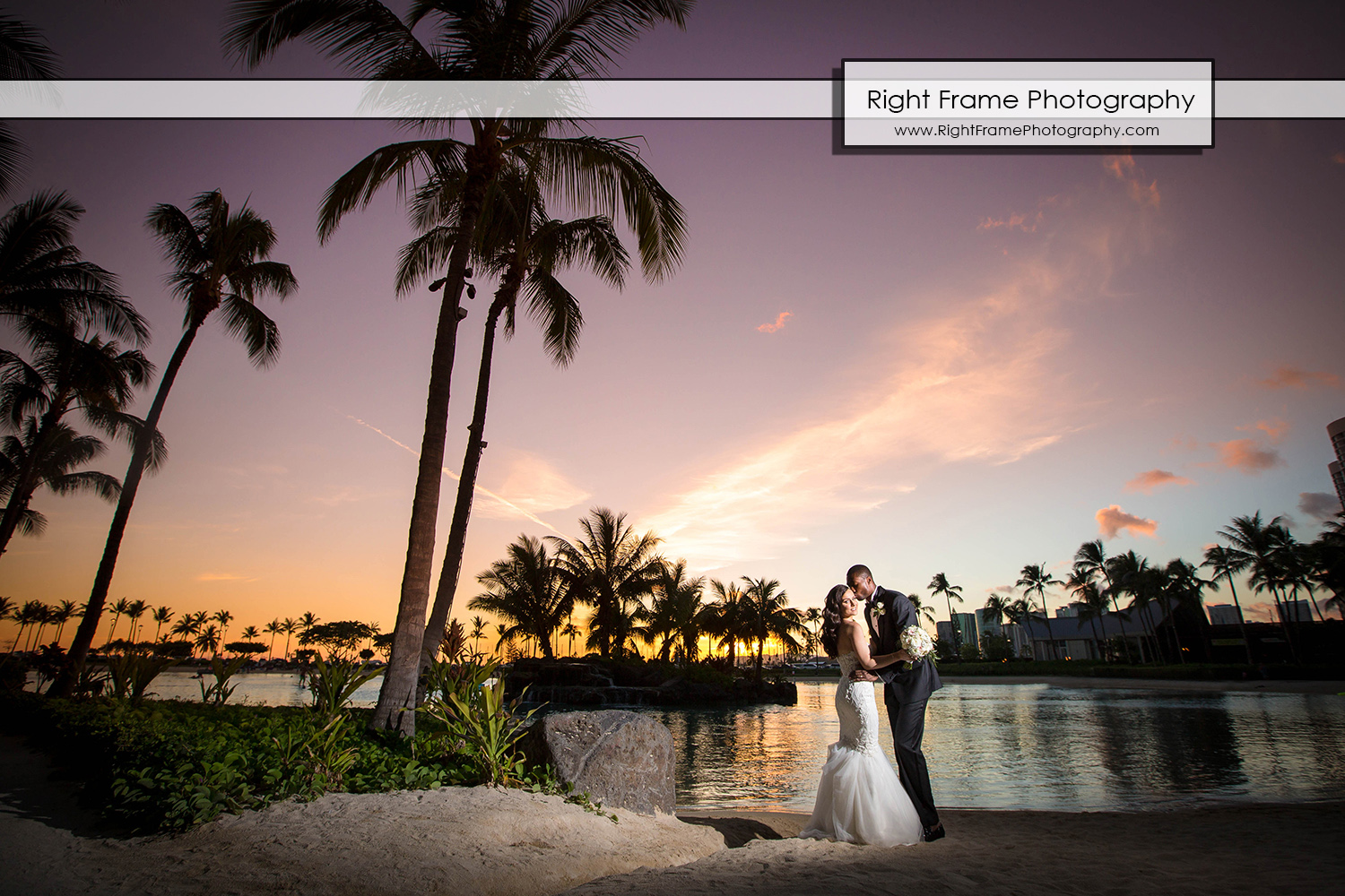 Hawaii Wedding Akala Chapel Hilton Hawaiian Village