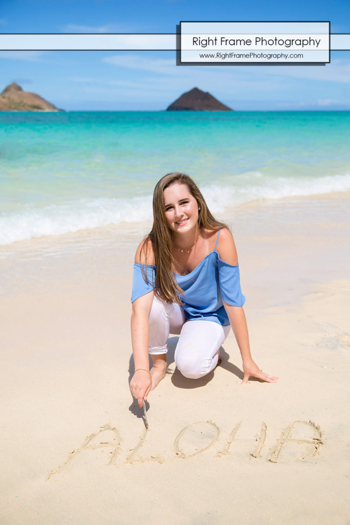 Hawaii Senior Portrait Session LANIKAI BEACH