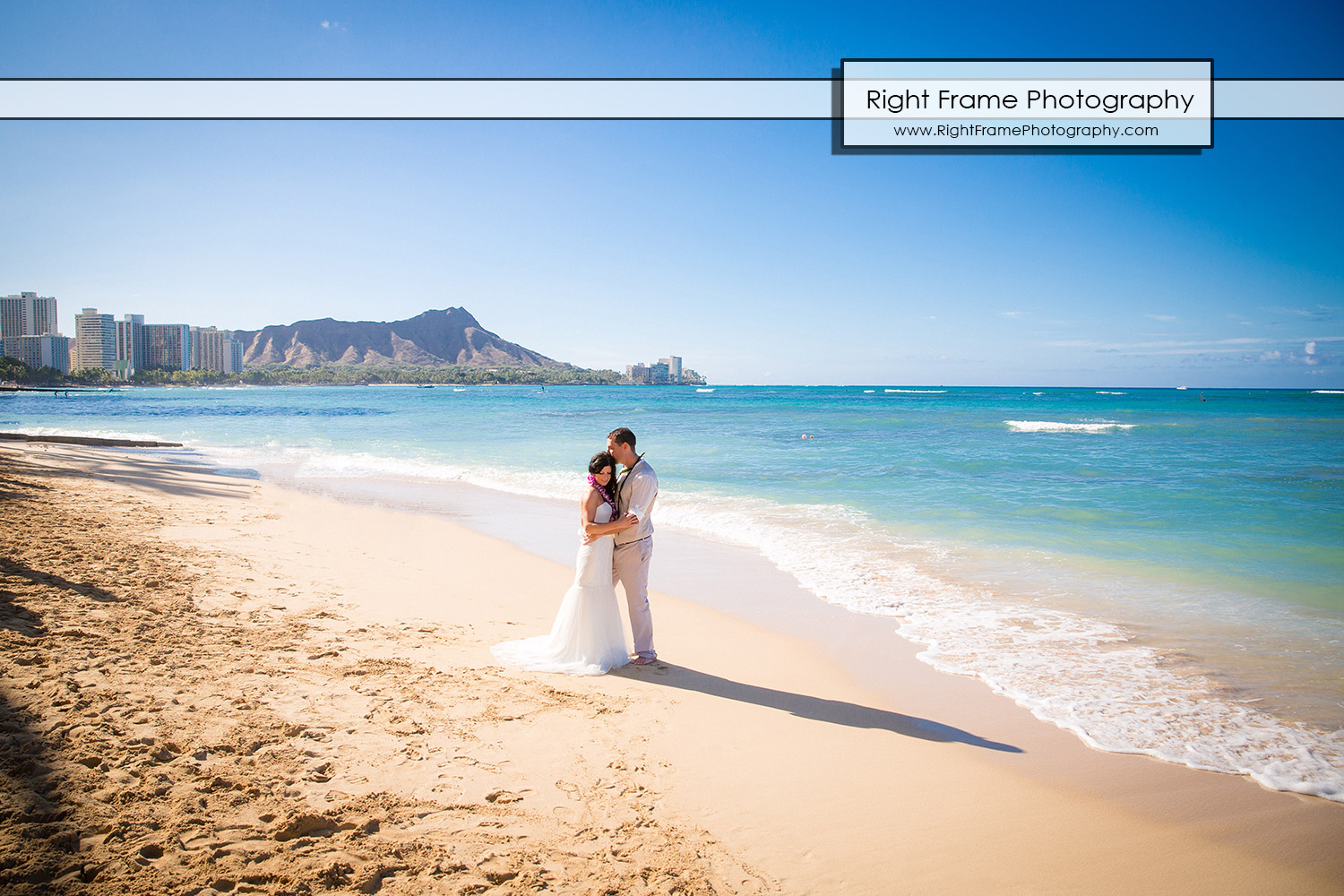 Vow renewal at Outrigger Reef Waikiki Beach Resort