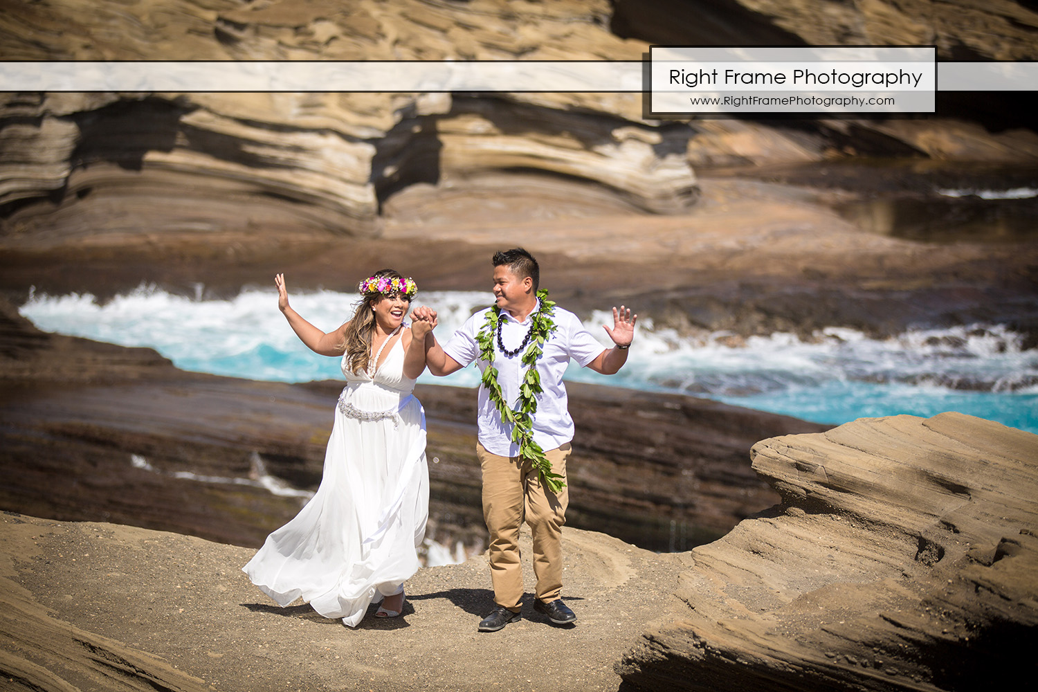 Beach Wedding Ceremony Oahu: Hawaiian Vow Renewal Ceremony