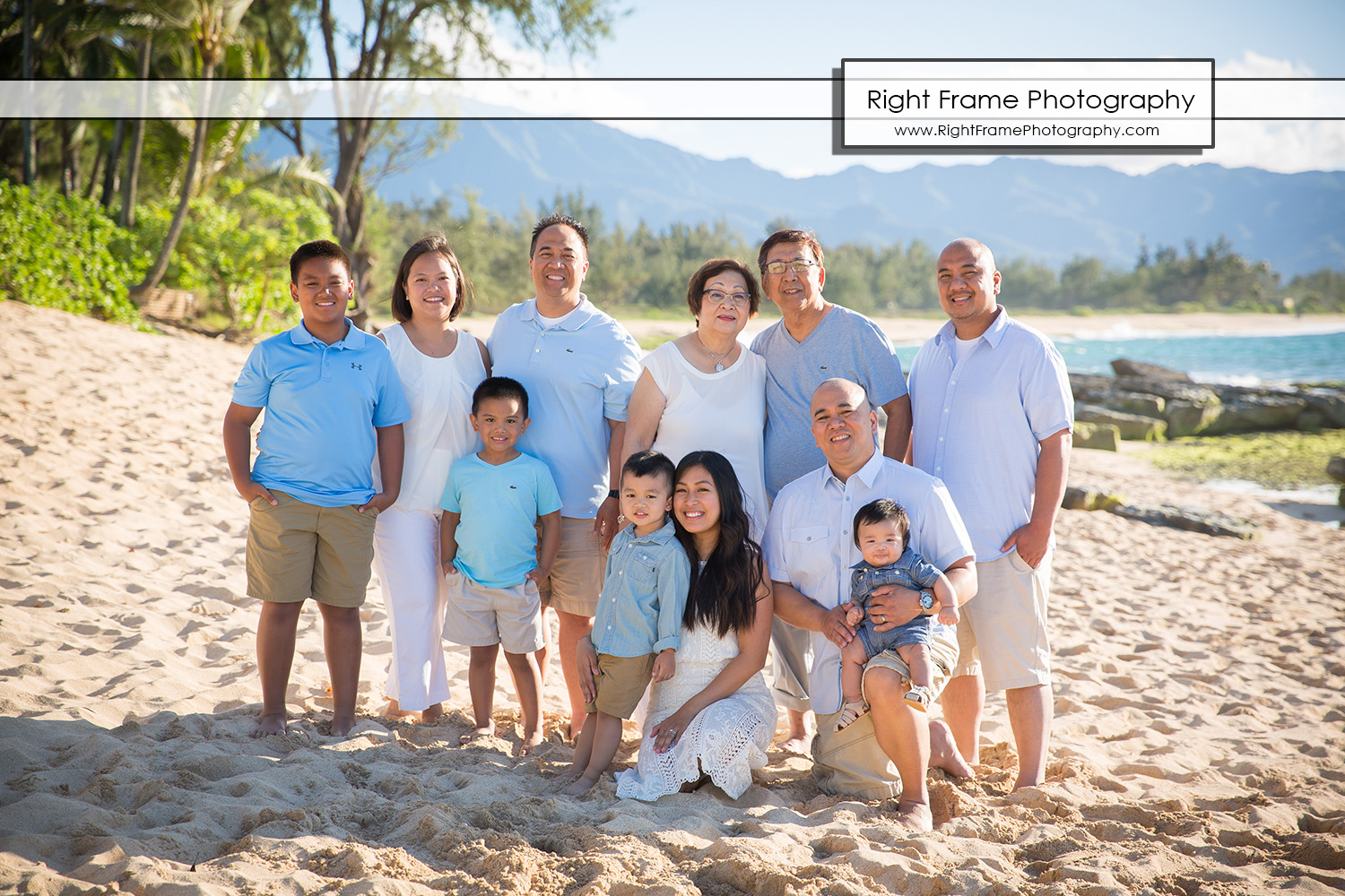 FAMILY REUNION PHOTOGRAPHY North Shore Oahu Hawaii