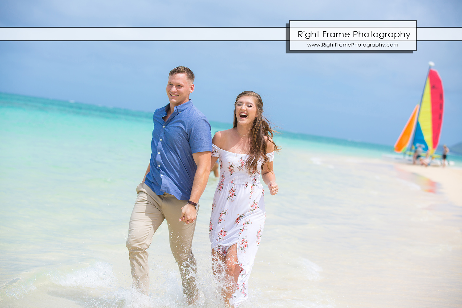 Lanikai Beach Engagement Session Oahu Hawaii