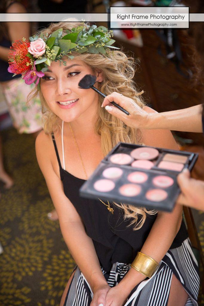 Hale Koa Wedding Makeup getting ready Waikiki Honolulu