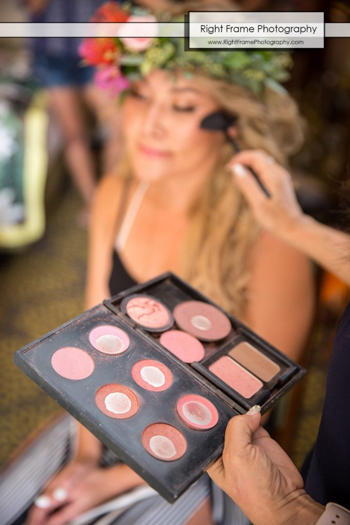 Hale Koa Wedding Makeup getting ready Waikiki Honolulu