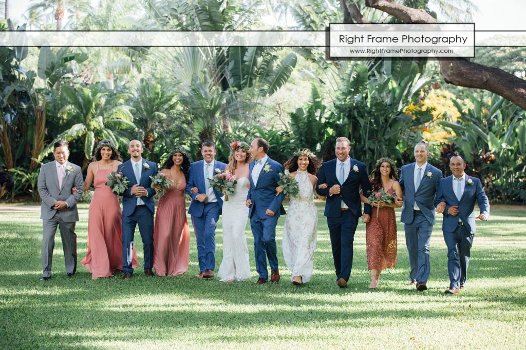HALE KOA HOTEL GARDEN WEDDING Honolulu Hawaii Bridal Party