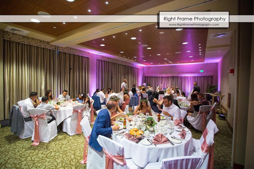 hale koa wedding reception Waikiki Honolulu Hawaii