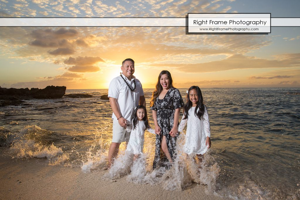 SUNSET FAMILY PORTRAITS near Disney Aulani Hotel Ko'olina