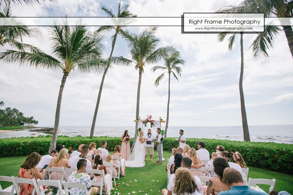 Beach Wedding Ceremony Oahu: Intimate Wedding Ceremony At PARADISE COVE LUAU Ko Olina