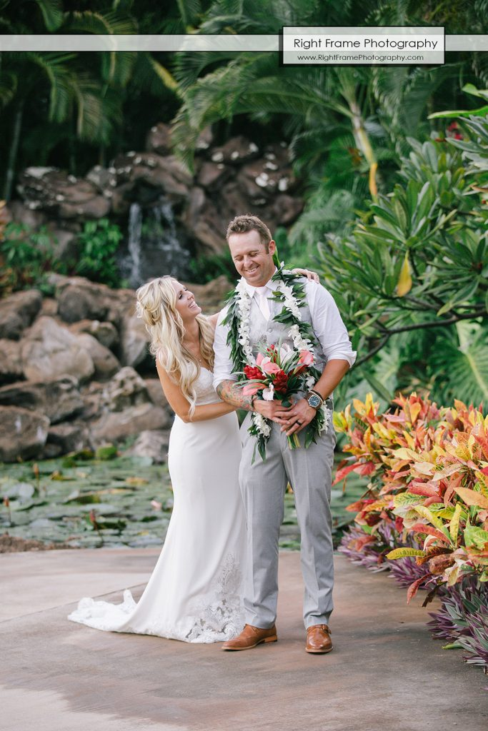 Intimate Wedding Ceremony at PARADISE COVE LUAU Ko Olina Oahu