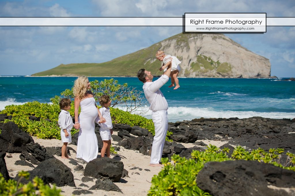 HAWAII FAMILY BEACH PICTURES at Makapu'u Beach