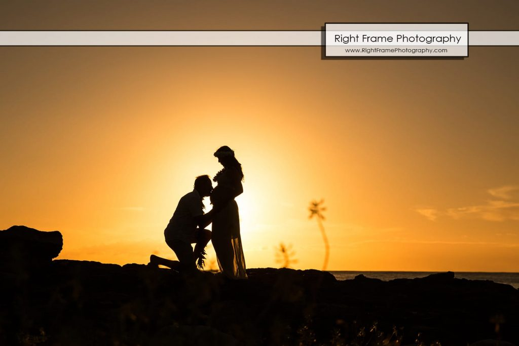 affordable Oahu Maternity Photographer Hawaii Photography photos sunset Honolulu