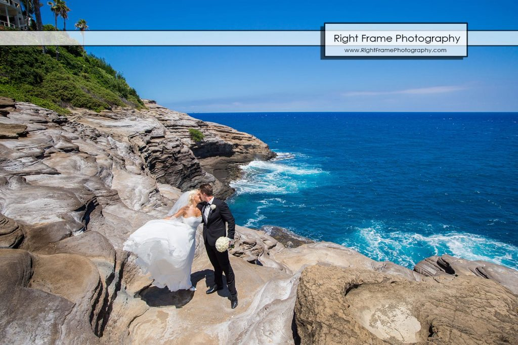 Small and Intimate Oahu Wedding at spitting cave Hawaii