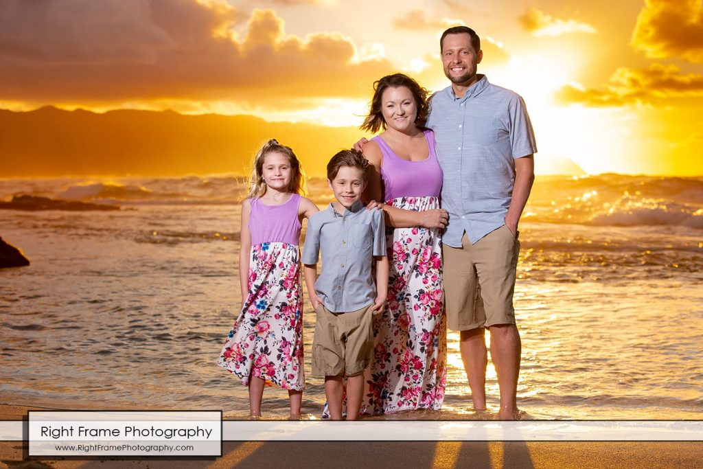 Sunset Oahu Family Photography at Papailoa Beach, Hawaii