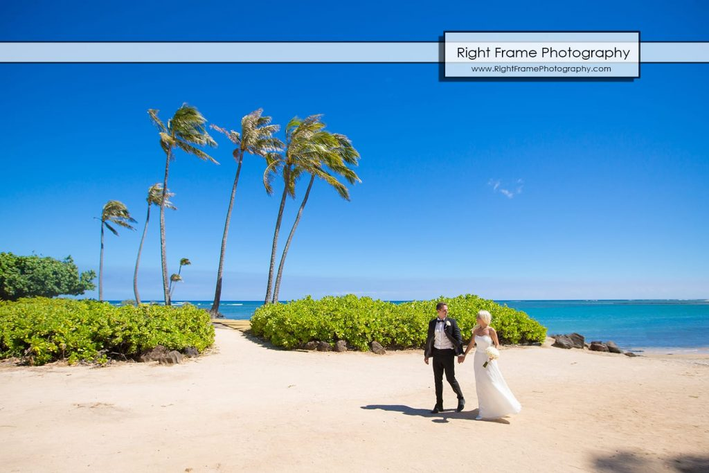Small and Intimate Oahu Wedding at kahala beach Hawaii