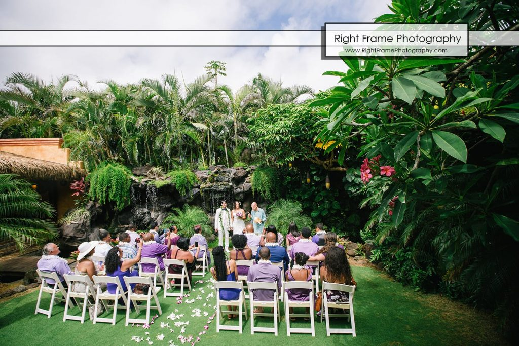 Oahu Waterfall Wedding at Pukalani Falls Garden Hobbit House
