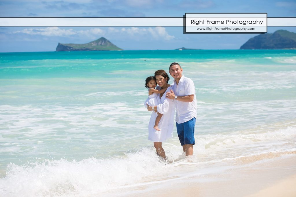 Oahu Family Portrait Bellows Beach Hawaii