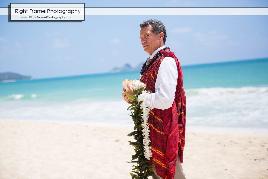 Small and Intimate Oahu Wedding at Waimanalo Bay Sherwood Forest Hawaii Reverend Kimo Taylor