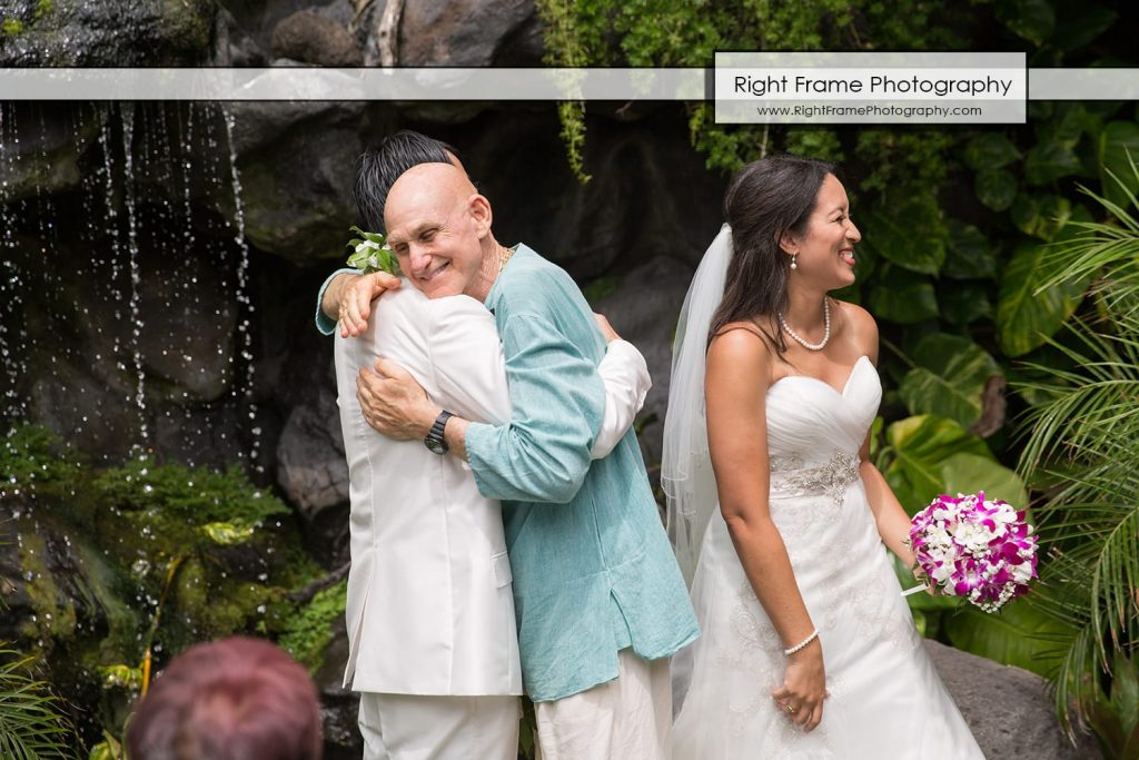 Oahu Waterfall Wedding at Pukalani Falls Garden captain howie hawaii