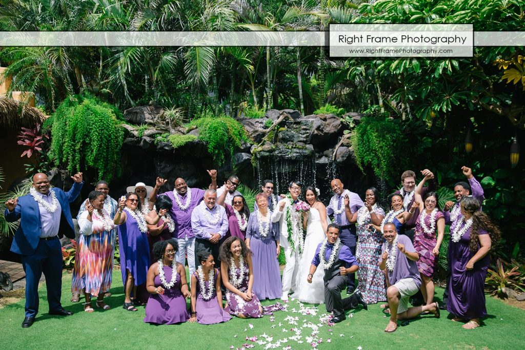 Oahu Waterfall Wedding at Pukalani Falls Garden