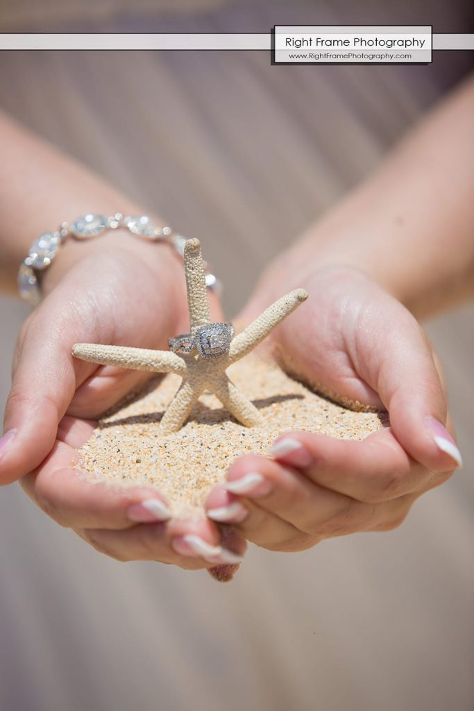 sand hawaii beach diamond ring starfish