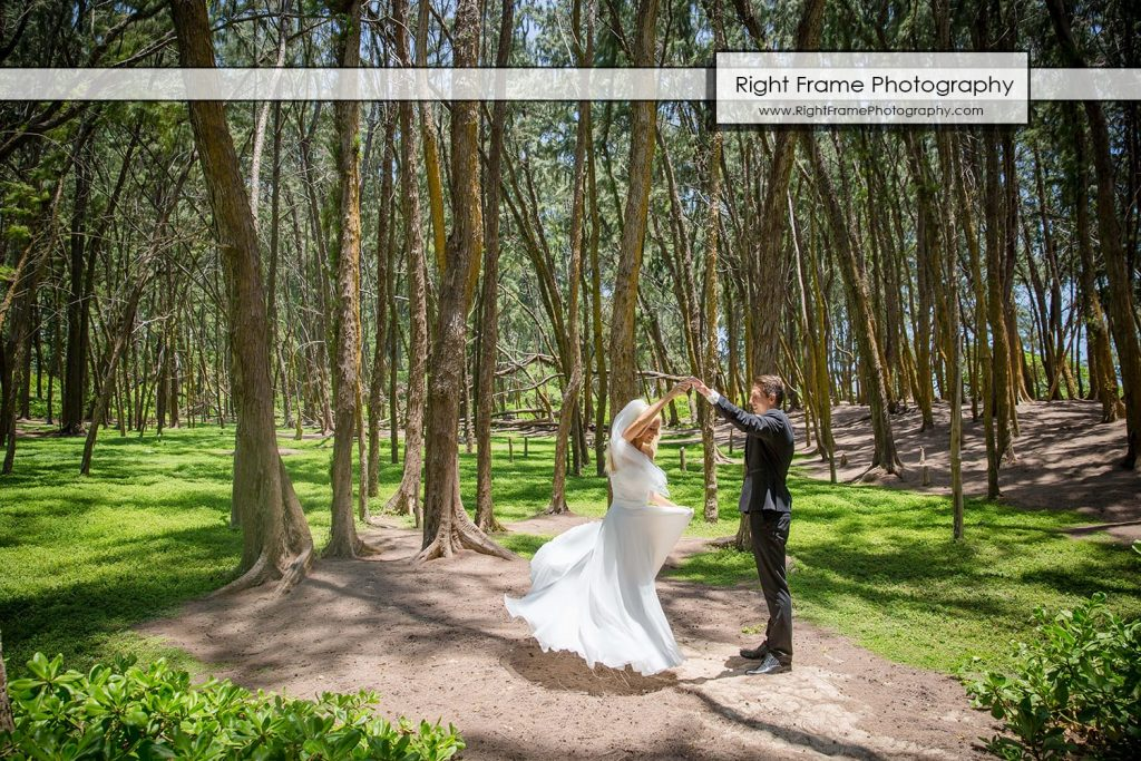 Small and Intimate Oahu Wedding at Waimanalo Bay Sherwood Forest Hawaii