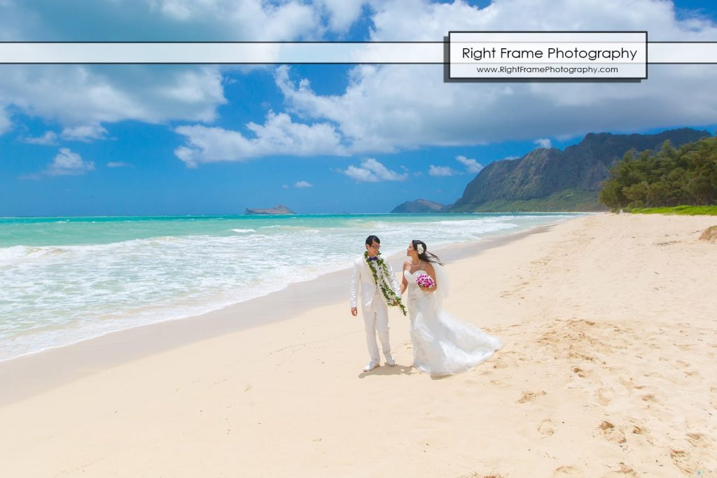 Oahu Waterfall Wedding at Angels Bay Beach
