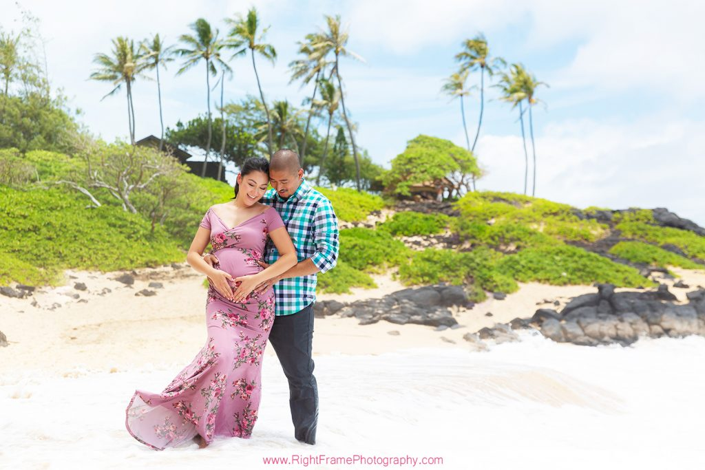 Pregnancy Announcement Photographers Oahu Hawaii