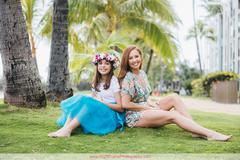 Oahu Family Photoshoot at Kahala Beach