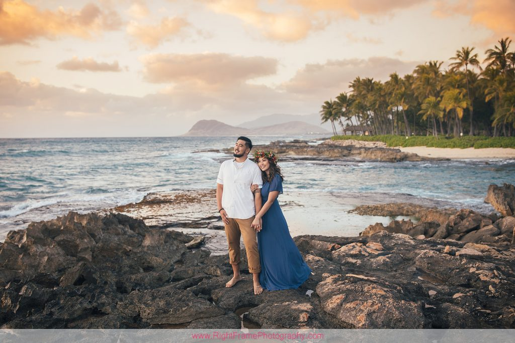Engagement Session near Four Seasons Resort Ko Olina Sunset