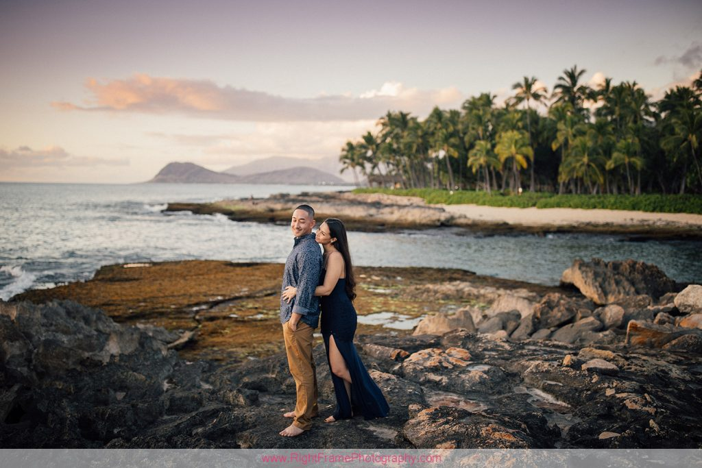 Hawaii Engagement Photoshoot at Secret Beach Ko Olina